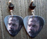 Rick From The Walking Dead Guitar Picks with Mocha Swarovski Crystals