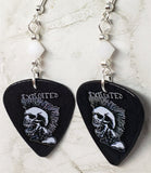 The Exploited Guitar Pick Earrings with White Swarovski Crystals