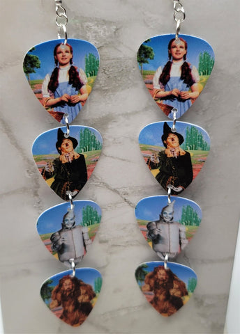 The Wizard of Oz Character Quadruple Guitar Pick Earrings
