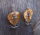 Large Anchor Charms Guitar Pick Earrings - Pick Your Color