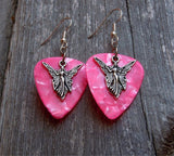 Angel Charm Guitar Pick Earrings - Pick Your Color