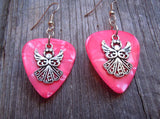 Fancy Angel Charms Guitar Pick Earrings - Pick Your Color