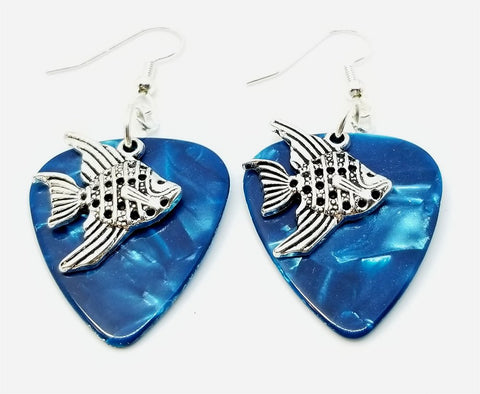 Angelfish Charm Guitar Pick Earrings - Pick Your Color