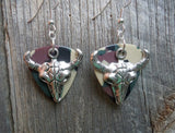 Large Animal Skull Guitar Pick Earrings - Pick Your Color