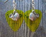 Apple Charm Guitar Pick Earrings - Pick Your Color