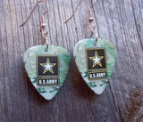 Army Camo Guitar Pick Earrings