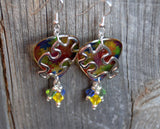 Transparent Puzzle Piece Guitar Picks with Swarovski Crystal Dangles - Autism Awareness