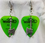 Axe Charm Guitar Pick Earrings - Pick Your Color
