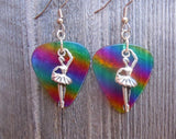 Ballet Dancer on Her Toes Charm Guitar Pick Earrings - Pick Your Color