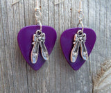 Ballet Slipper Charms Guitar Pick Earrings - Pick Your Color