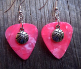 Basketball Charms Guitar Pick Earrings - Pick Your Color