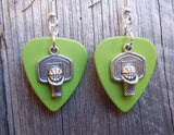 Basketball Hoop Guitar Pick Earrings - Pick Your Color