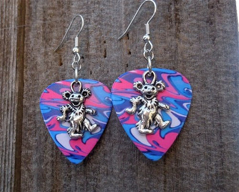 Dancing Bear Guitar Pick Earrings - Pick Your Color