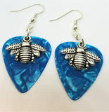 Bee Charm Guitar Pick Earrings - Pick Your Color