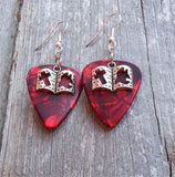 Bible Charm Guitar Pick Earrings - Pick Your Color