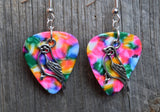 Bird Charm Guitar Pick Earrings - Pick Your Color
