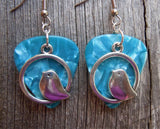 Chubby Bird Charm Guitar Pick Earrings - Pick Your Color