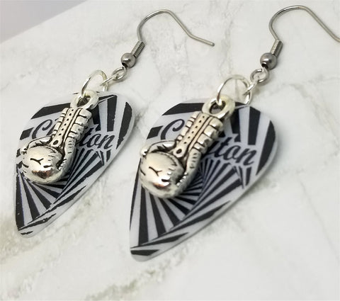 Boxing Gloves Charm Guitar Pick Earrings - Pick Your Color
