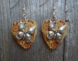 Beautiful Butterfly Charm Guitar Pick Earrings - Pick Your Color