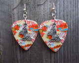 Butterfly Charm Guitar Pick Earrings - Pick Your Color