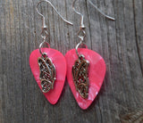 Sideways Butterfly Charm Guitar Pick Earrings - Pick Your Color