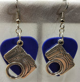 Modern Camera Guitar Pick Earrings - Pick Your Color