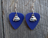 Car - Bug or Mini Coop - Charm Guitar Pick Earrings - Pick Your Color