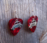 VW Beetle Charm Guitar Pick Earrings - Pick Your Color