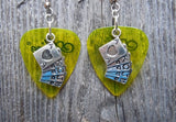 Royal Flush Card Hand Charm Guitar Pick Earrings - Pick Your Color