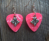Card Suit Charm Guitar Pick Earrings - Pick Your Color