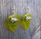 Cat Lying Down Charm Guitar Pick Earrings - Pick Your Color