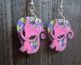 Pink Anime Cat Charm Guitar Pick Earrings - Pick Your Color
