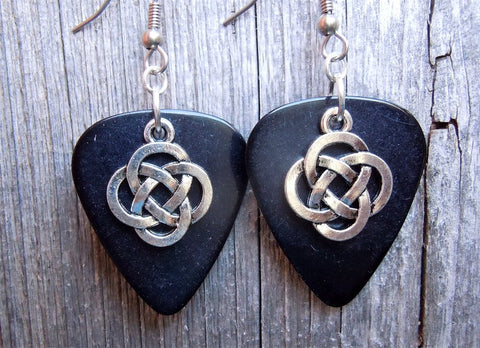 Celtic Knot Charm Guitar Pick Earrings - Pick Your Color