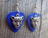 Cheetah Head Charm Guitar Pick Earrings - Pick Your Color