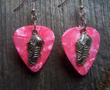 Sport Cleat Charms Guitar Pick Earrings - Pick Your Color