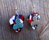 Club Charm Guitar Pick Earrings - Pick Your Color