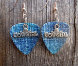 Cowgirl Charm Guitar Pick Earrings - Pick Your Color
