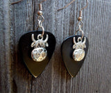 Cow with Heart Pattern Charm Guitar Picks Earrings - Pick Your Color