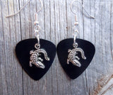 Crocodile or Alligator Charm Guitar Pick Earrings - Pick Your Color
