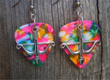 Crossbow Charm Guitar Pick Earrings - Pick Your Color