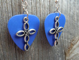 Cross Charm Guitar Pick Earrings - Pick Your Color