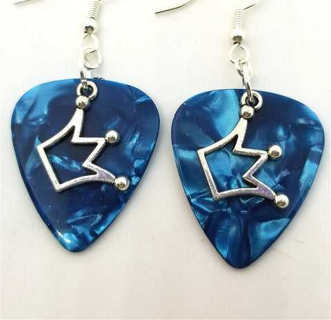 Jughead Crown Charm Guitar Pick Earrings - Pick Your Color