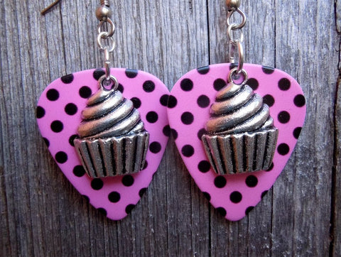 Large Cupcake Guitar Pick Earrings - Pick Your Color