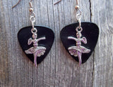 Dancer Girl Charm Guitar Pick Earrings - Pick Your Color