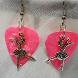 Dancer Charm Guitar Pick Earrings - Pick Your Color