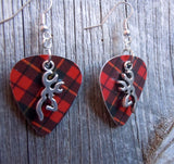 Browning Deer Head Charm Guitar Pick Earrings - Pick Your Color