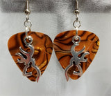 Browning Deer Large Charm Guitar Pick Earrings - Pick Your Color
