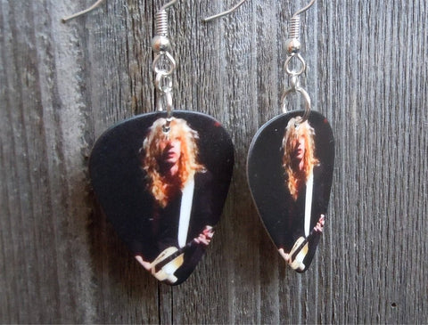 Def Leppard Steve Clark Guitar Pick Earrings