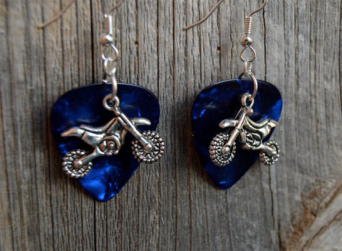 Dirt Bike Charm Earrings - Pick Your Color