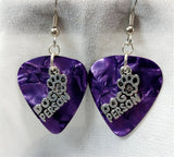 Dog Person Charm Guitar Pick Earrings - Pick Your Color